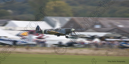 Spitfire low level run past Union Jacks 